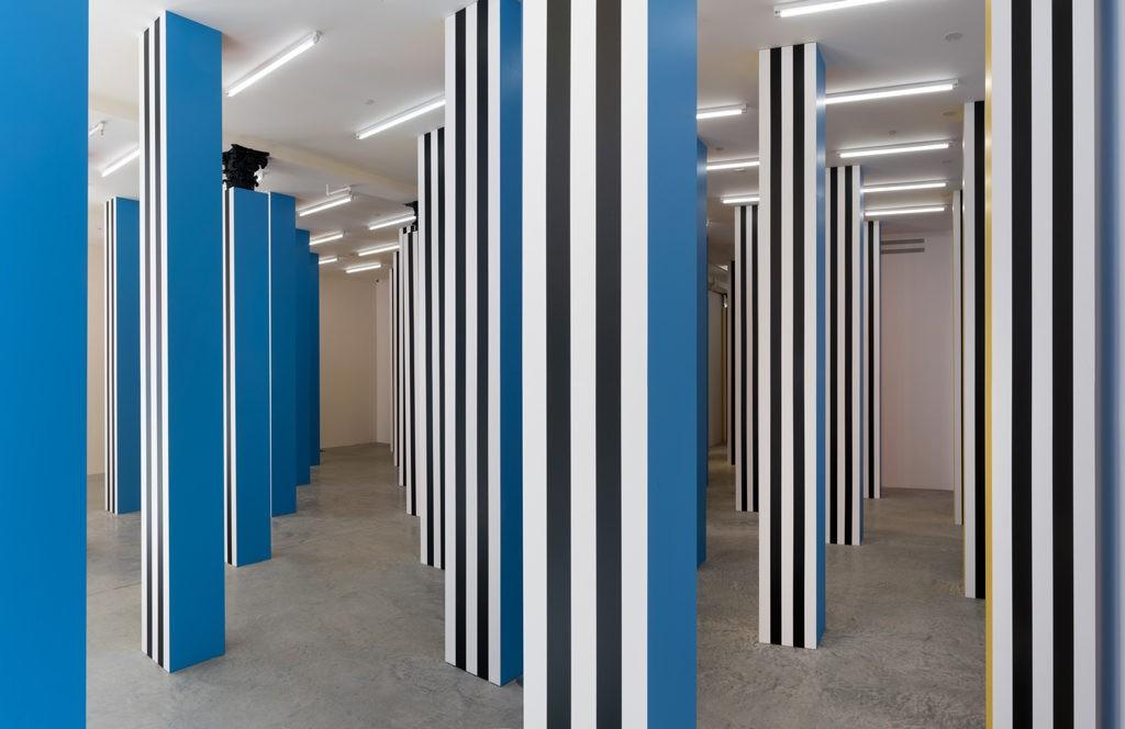 Daniel Buren Opens An Exhibition At Bortolami In New York