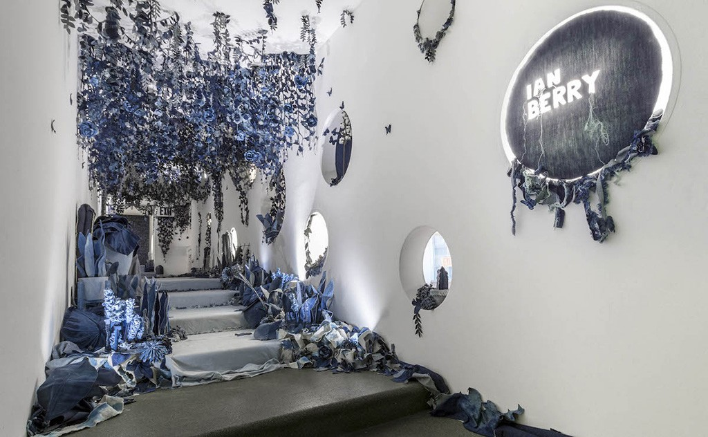 The British Artist Created The Secret Garden of Jeans Scraps in New York