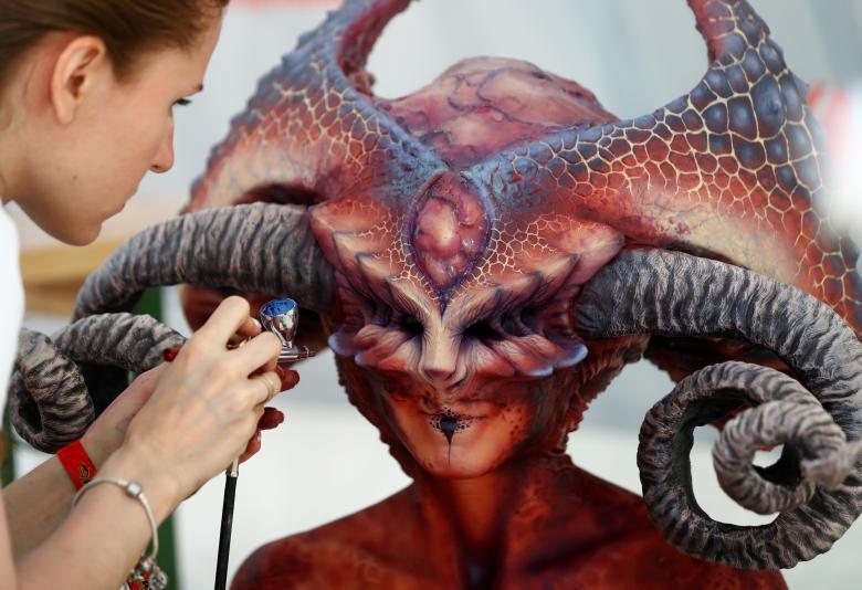 The Human Body As A Canvas World Body Art Festival In Austria 2017 Usa Art News