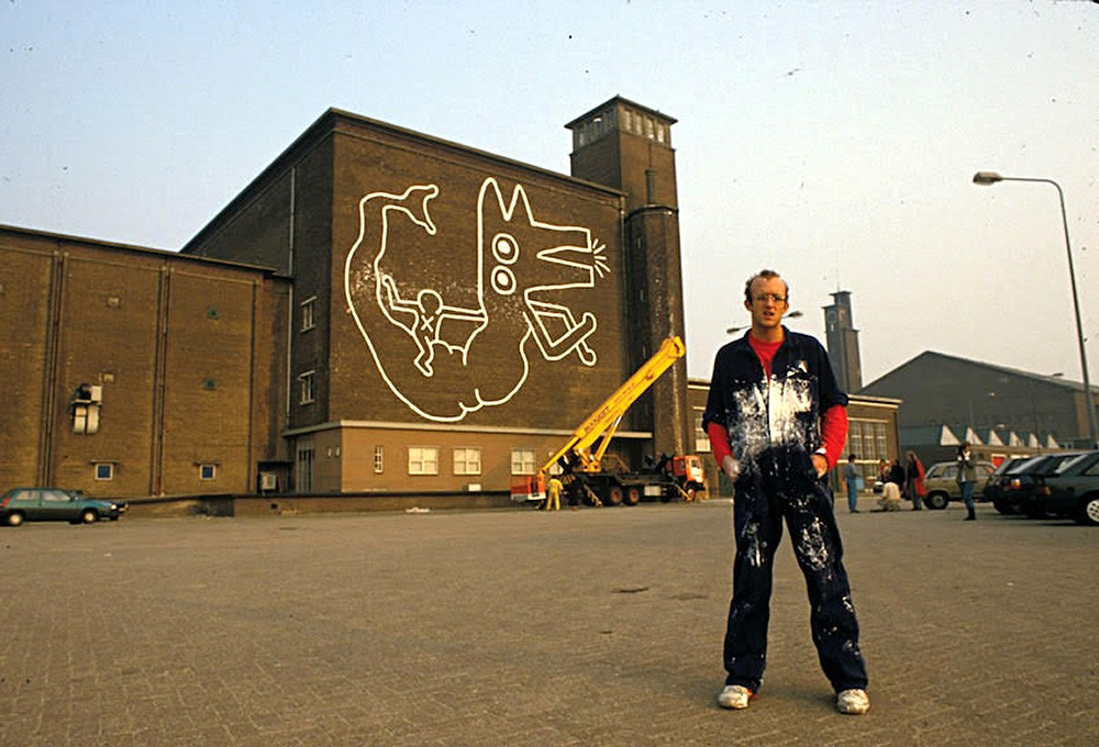 Keith Haring's new-found Amsterdam mural will remain on the wall