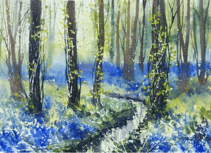 Delicate lyrical watercolors Malgorzata Szczecinska