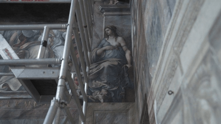 The discovered frescoes by Raphael are first presented at the Vatican