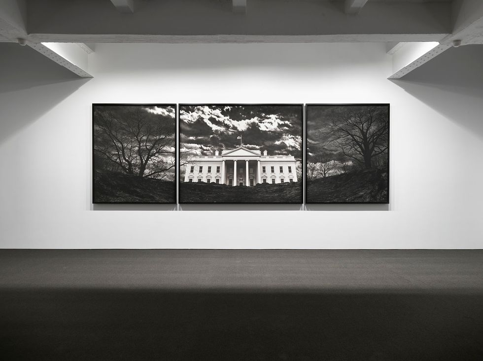 An exhibition of works by Robert Longo opened by Jeffrey Deitch