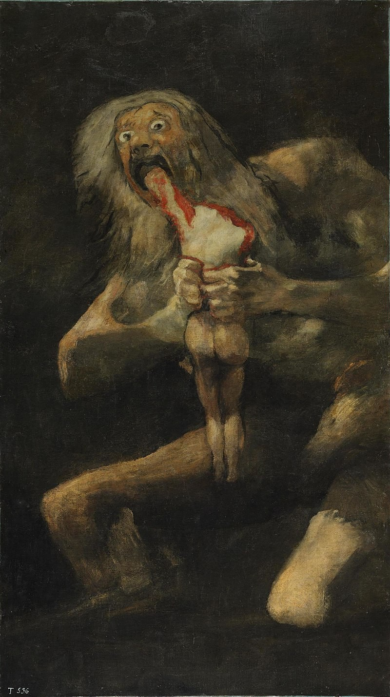 "The most horrifying picture: ""Saturn devouring his son"" by Francisco Goya"