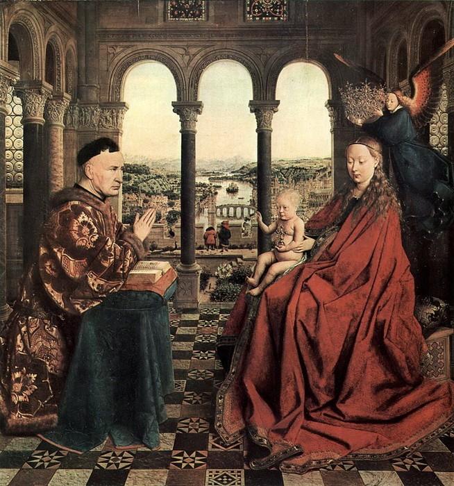Jan van Eyck 'TheMadonnaofChancellor Rolin'