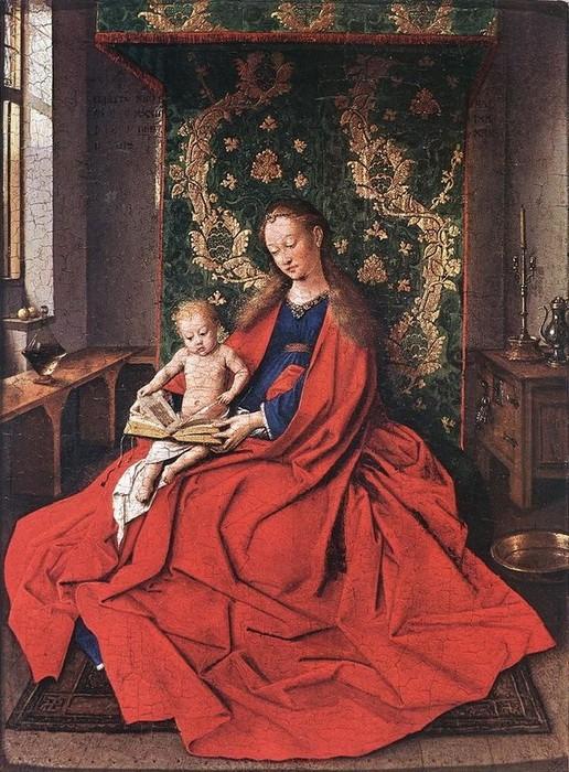 Jan Van Eyck 'Madonnawith theChild Reading' (1433)