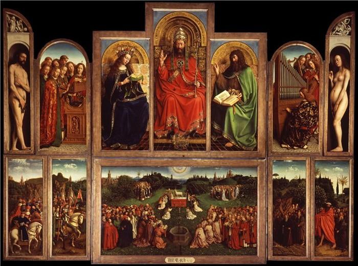 Jan van Eyck 'Ghent Altarpiece', completed 1432, oil on wood
