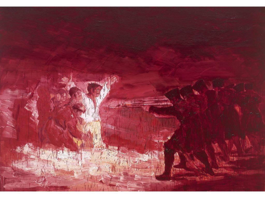 Artist Yan Pei-Ming makes vast pandemic painting Pandémie (2020)