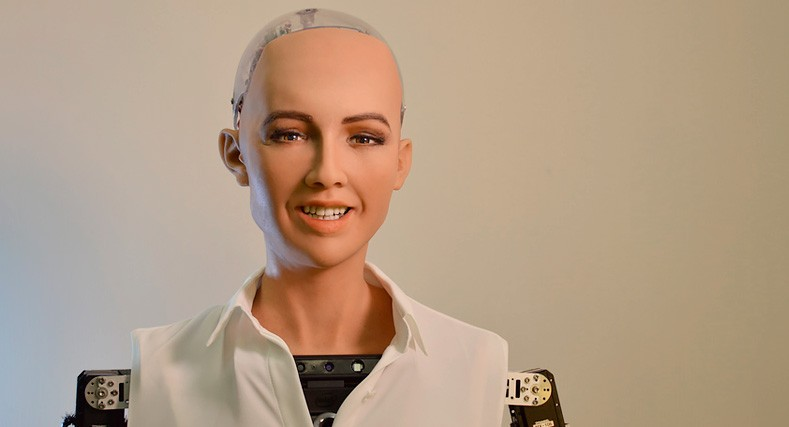 """A hand-painted """"self-portrait"""" by the world-famous humanoid robot, Sophia, NFT sells for almost $700K"""