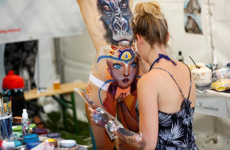 The Human Body As a Canvas: World Body Art Festival in Austria 2017