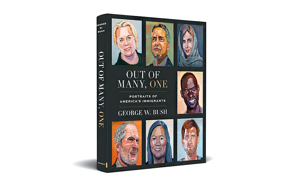 Former US President and his book with portraits of immigrants
