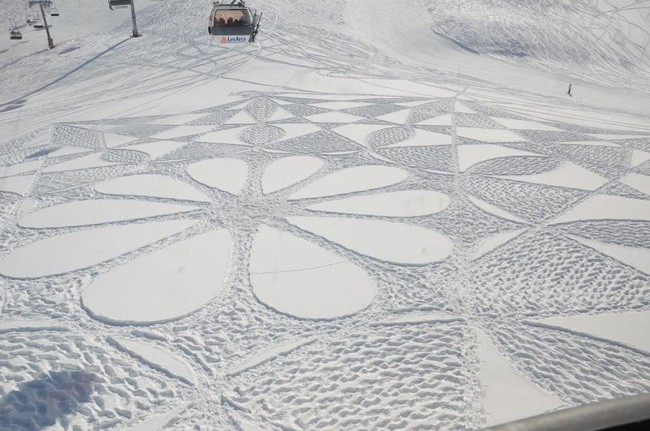 Amazing Snow Art By Simon Beck