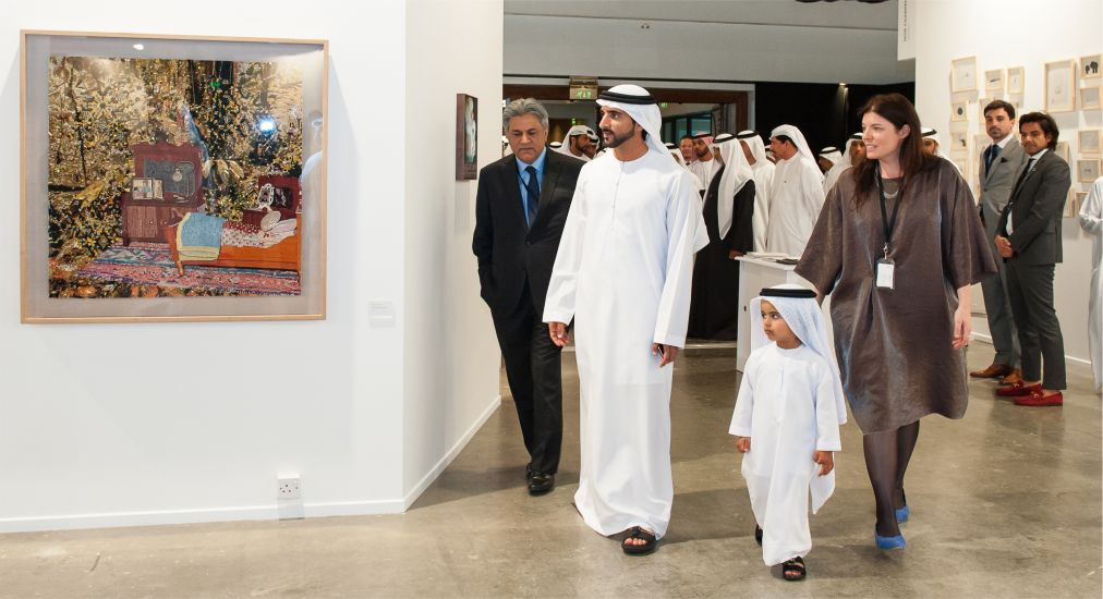 Opening of the Art Dubai Fair - in real life