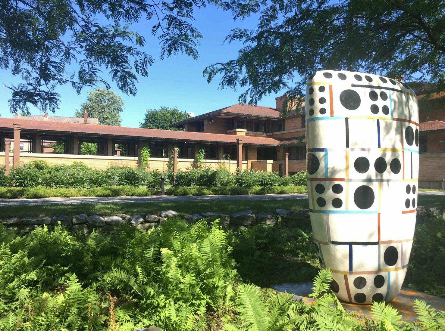 Japanese sculpture park on Frank Lloyd Wright's Villa
