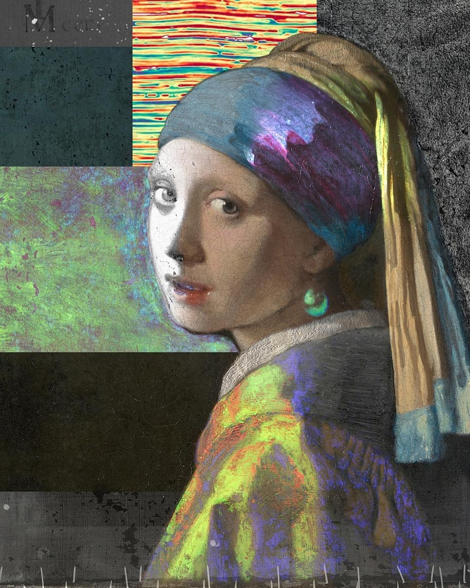 """""""Girl with a Pearl Earring"""", made up of images from the project. Source: mauritshuis. nl"""