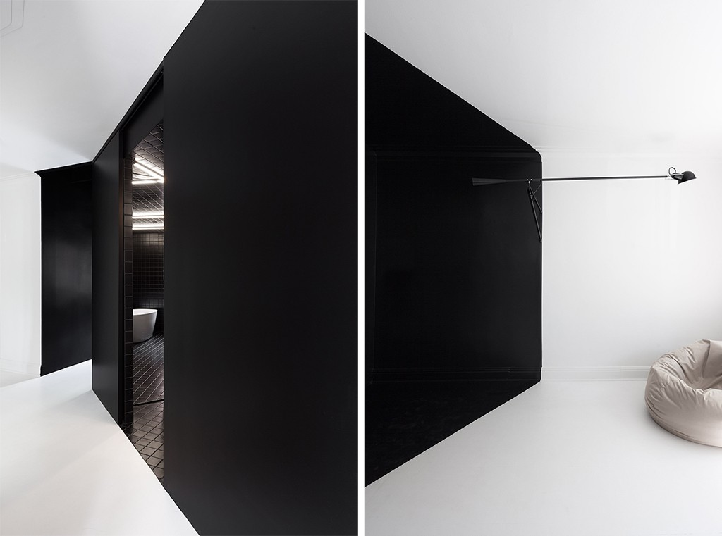 Canadian Architect Painted the Apartment in Black and White