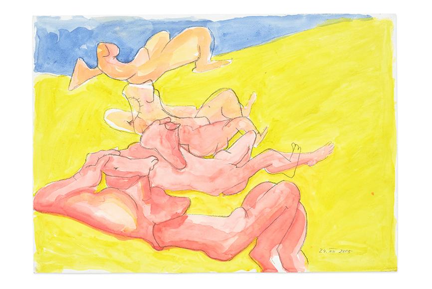 """Body awareness"" with Maria Lassnig"