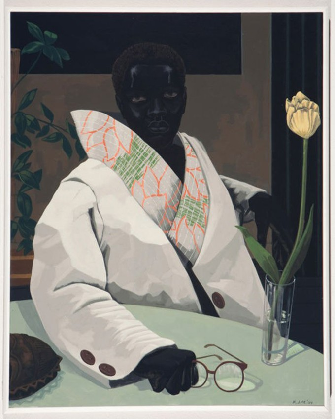 Kerry James Marshall designed the cover of Vogue. See his main works