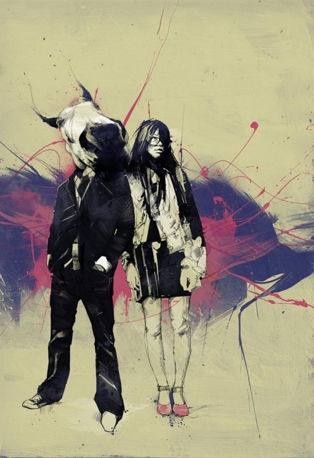 Unususal Creation Of Emotional Illustrations By Russ Mills