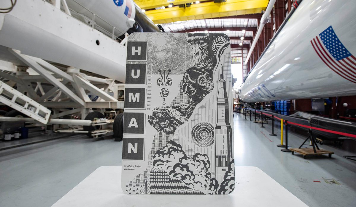 The paintings of the artist whose work Elon Musk sent into space