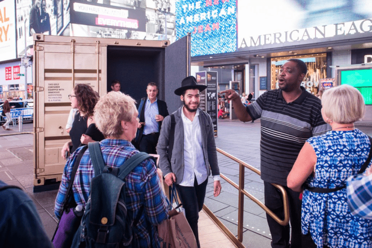 "The Artist Turned Times Square Into A Real ""Portal To The World"""