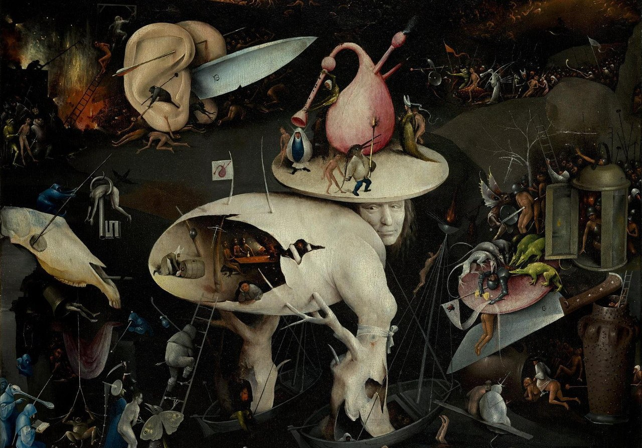 Music In The Hell By Hieronymus Bosch