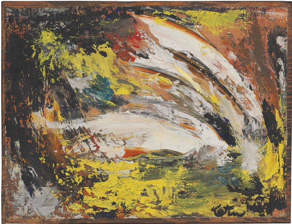 Abstract Expressionism. Albert Kotin. Untitled Painting, 1944.