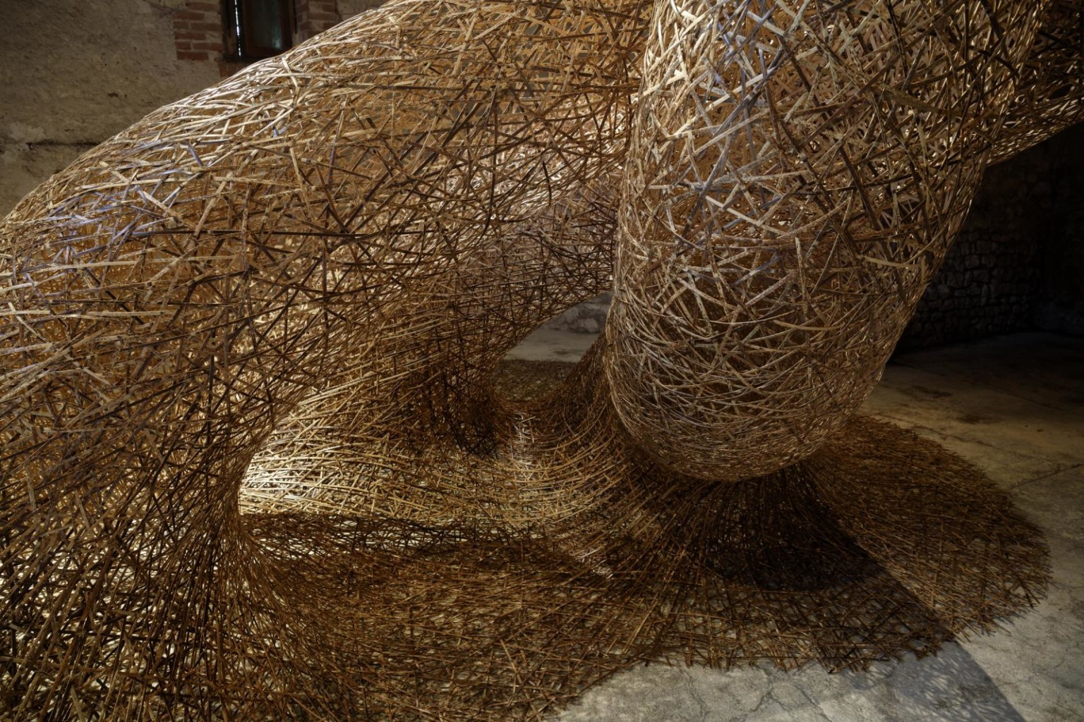 Recycled Bamboo Installations by Tanabe Chikuunsai IV