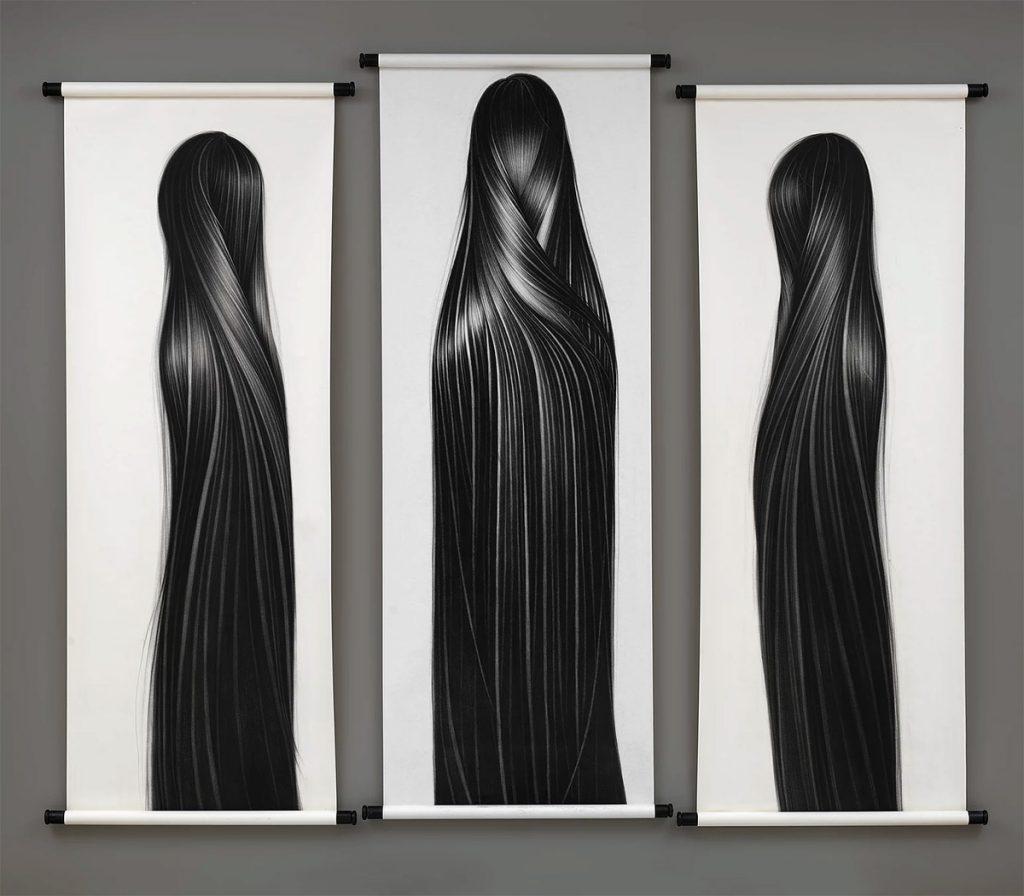The Surreal Hair Drawings by Hong Chun Zhang