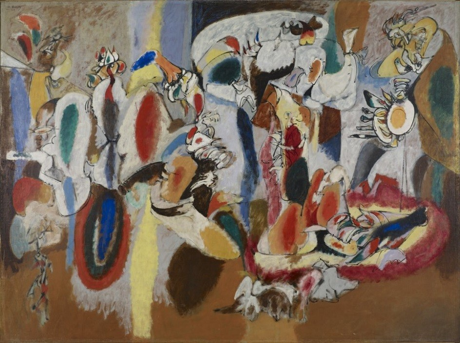 """Abstract Expressionism. Arshile Gorky. Painting """"Liver like a rooster's crest"""", 1944."""