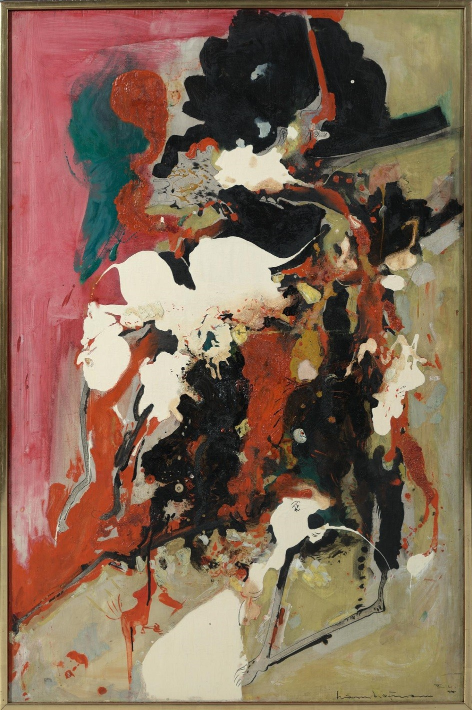 """Abstract Expressionism. Hans Hoffmann. Painting """"Sizzling"""", 1942."""