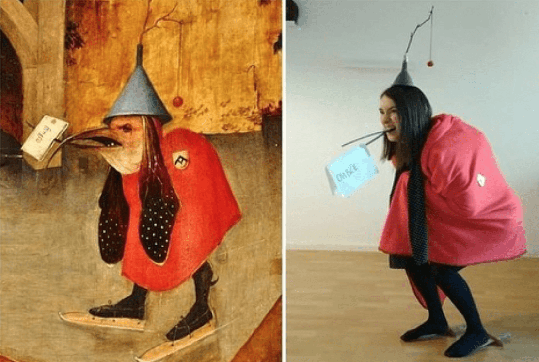How do people recreate famous paintings on quarantine