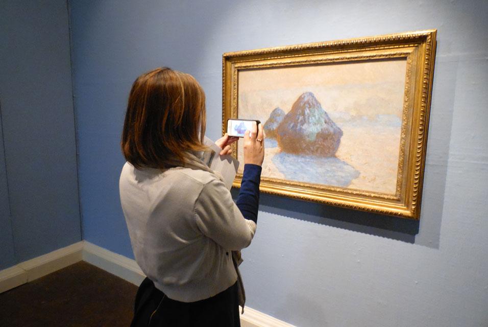 Abbot Hall Art Gallery Displays Claude Monet's 'Haystacks: Snow Effect'