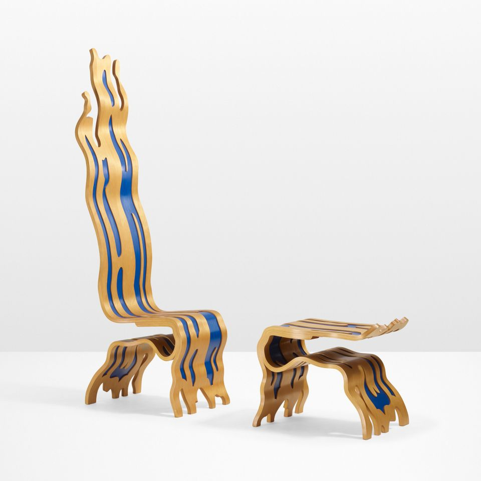 Late Works By Maria Lassnig and Di Cavalcanti and a Creative Chair by Roy Lichtenstein