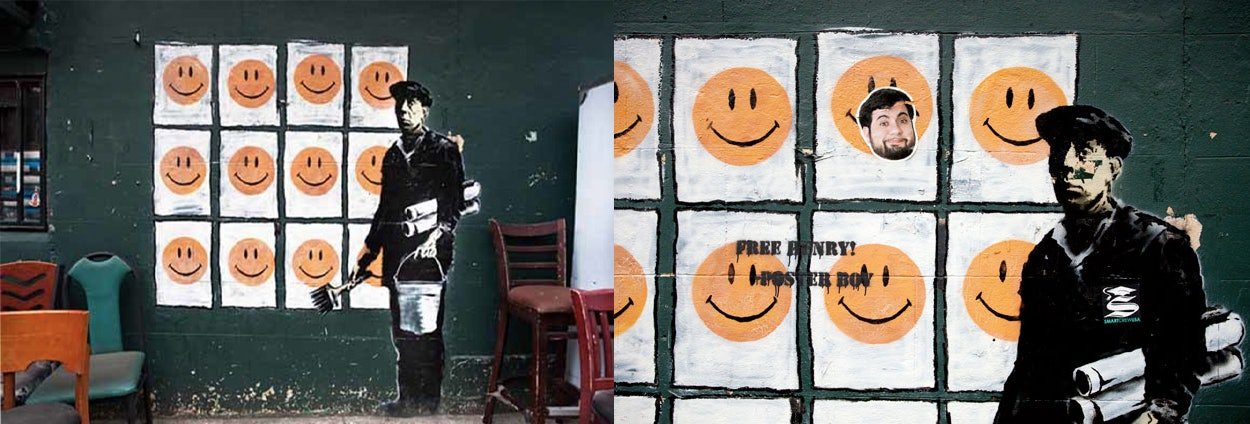 Banksy - a new mural by the street artist