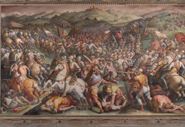 Battle of Marciano Giorgio Vasari 1571, 76×130 cm