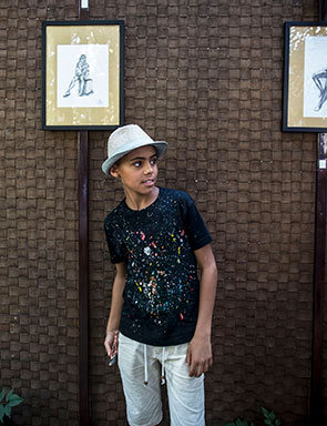 Afghan Migrant 'Little Picasso' Exhibits in Belgrade