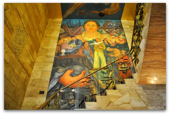 A Diego Rivera mural in the San Francisco Art Institute