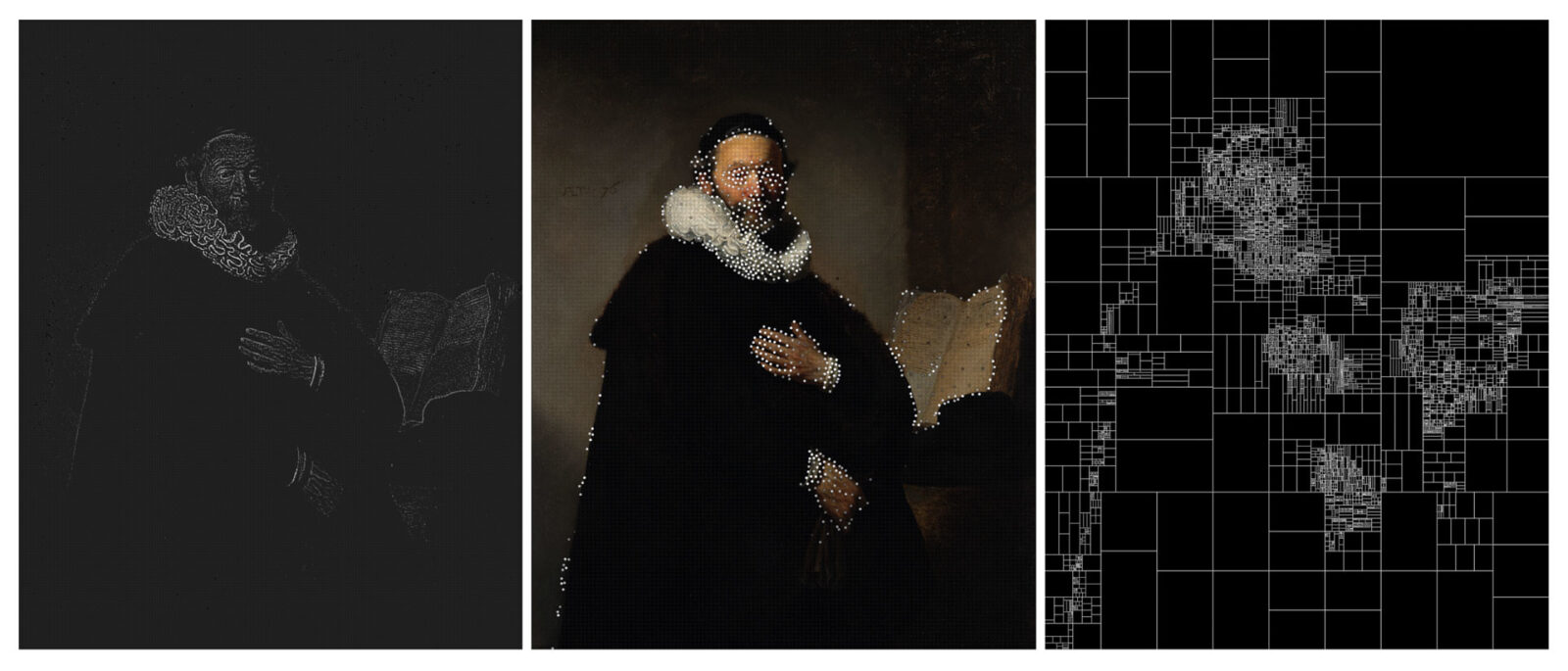 Color Palettes of Historic Paintings Subdivided with Algorithms by Dimitris Ladopoulos