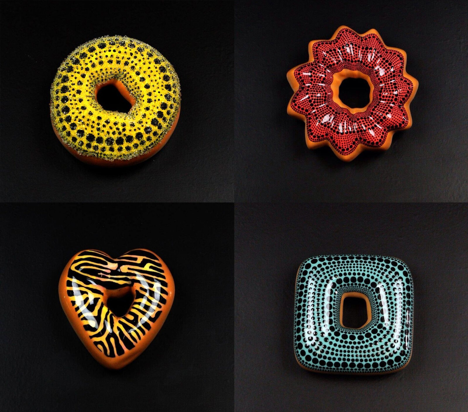 Glazed Ceramic Donuts by Jae Yong Kim