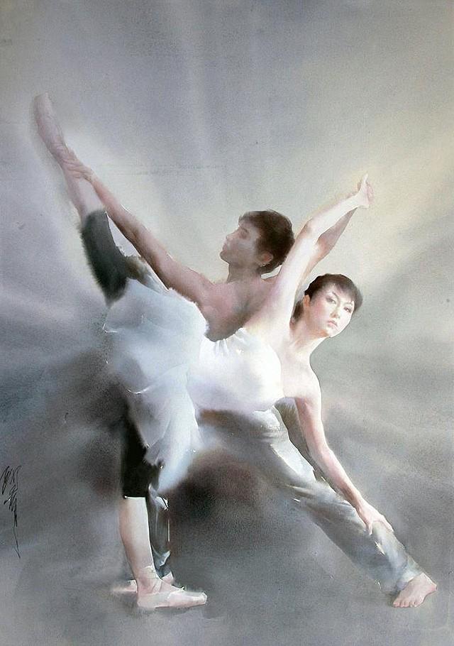Watercolor Ballet By Liu Yi