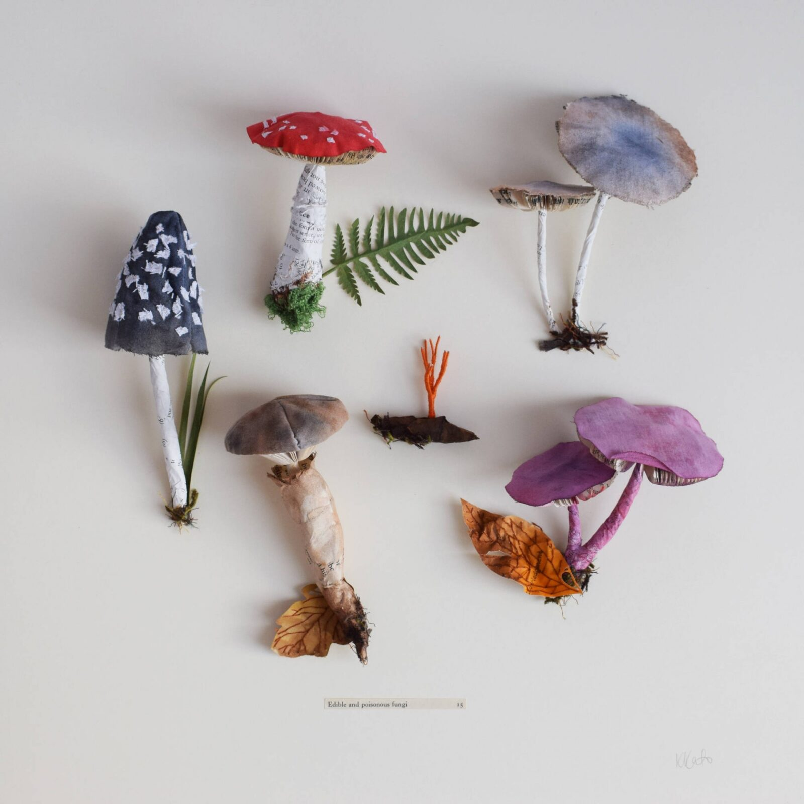 Botanical Sculptures Made From Recycled Paper by Artist Kate Kato