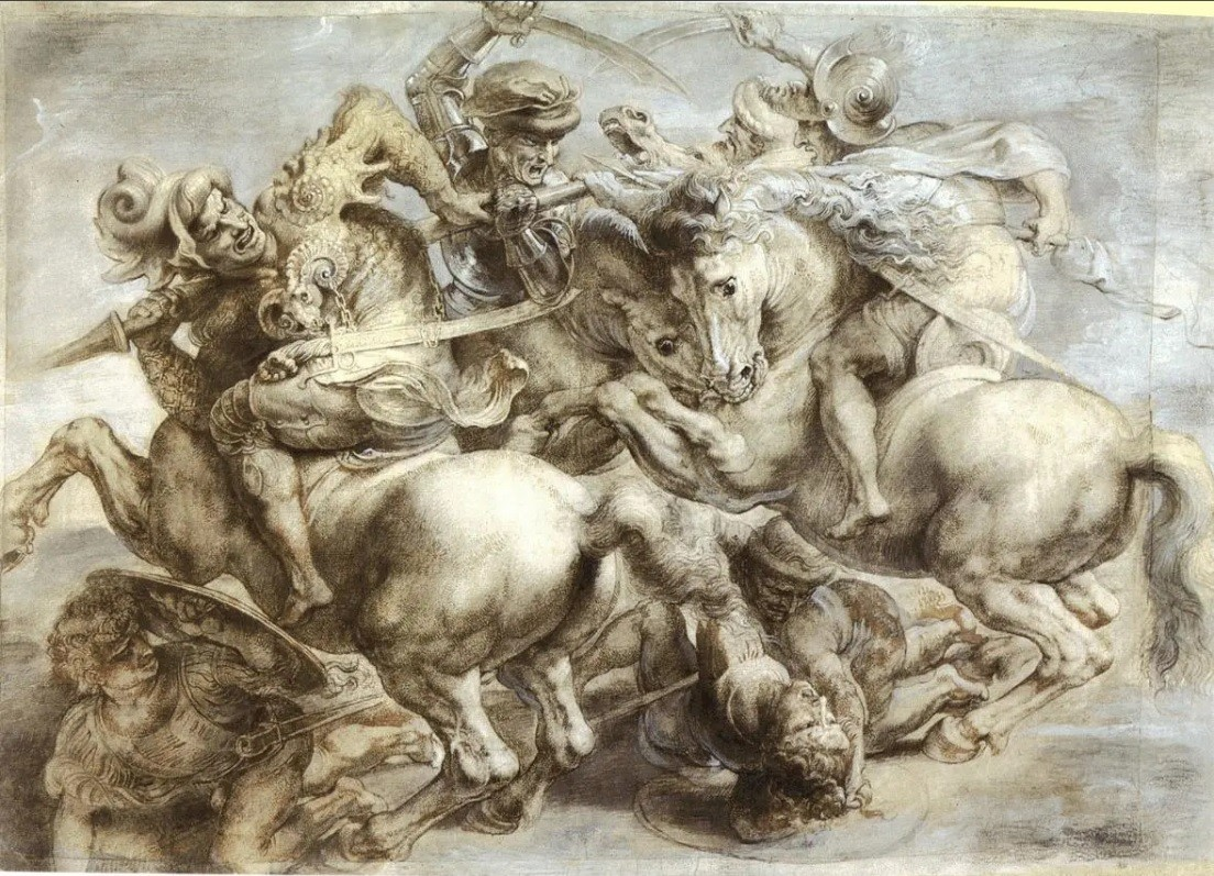Peter Paul Rubens, A Copy of the Battle of Anghiari by Leonardo da Vinci, ok. 1603. Louvre, Paris