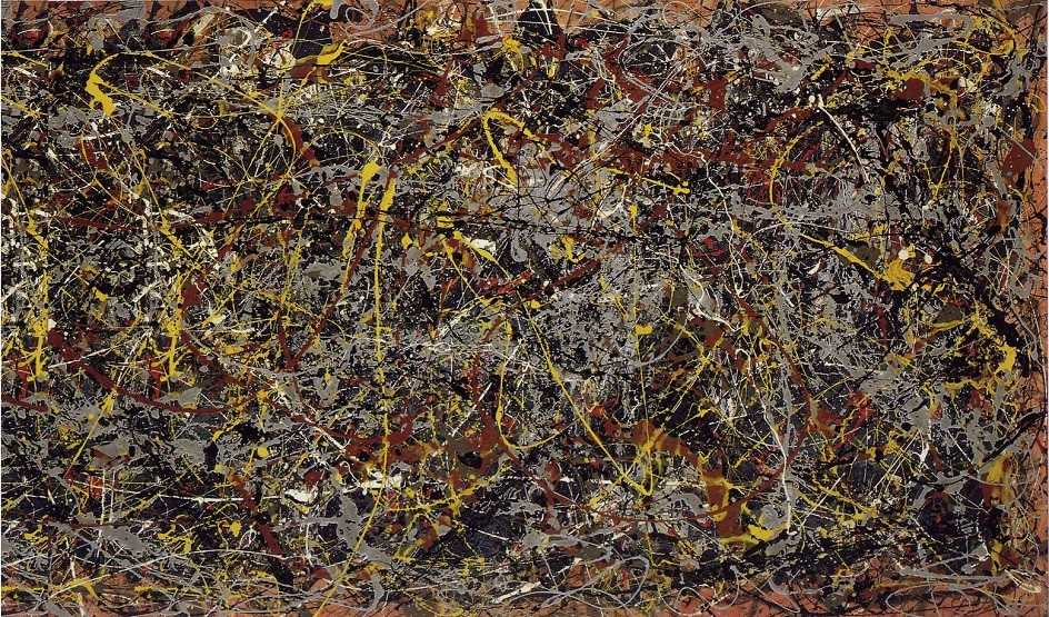 """Abstract Expressionism. Jackson Pollock. Painting """"Number 5"""", 1948."""