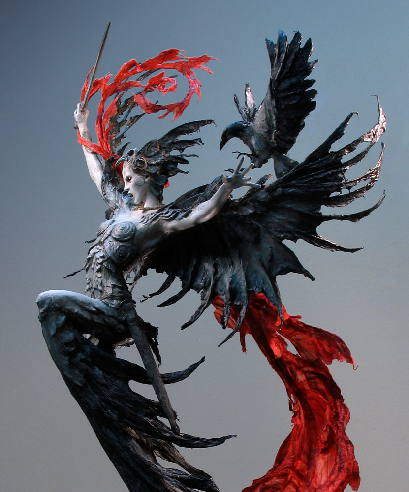 Chimeras, harpies and mermaids. Mythological sculptures by Forest Rogers.