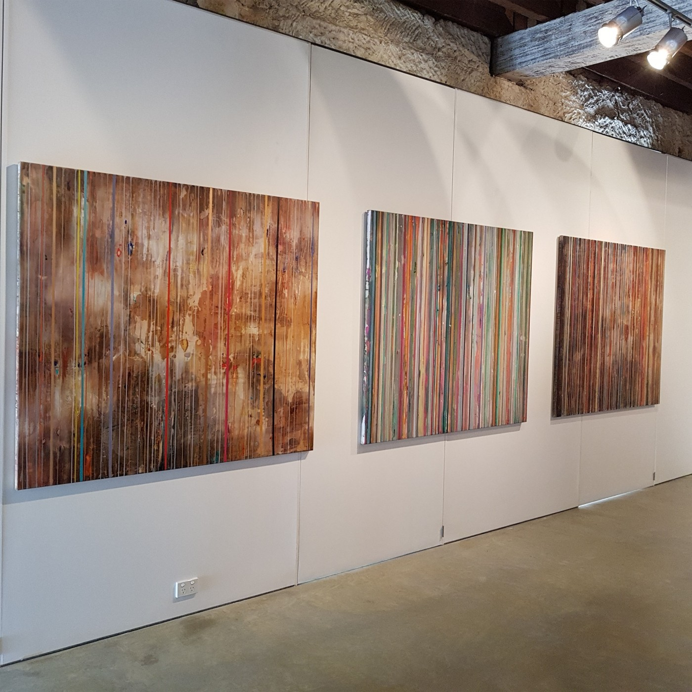"""My painting process is very physical and more like an evolving performance"" - Julie Harris"