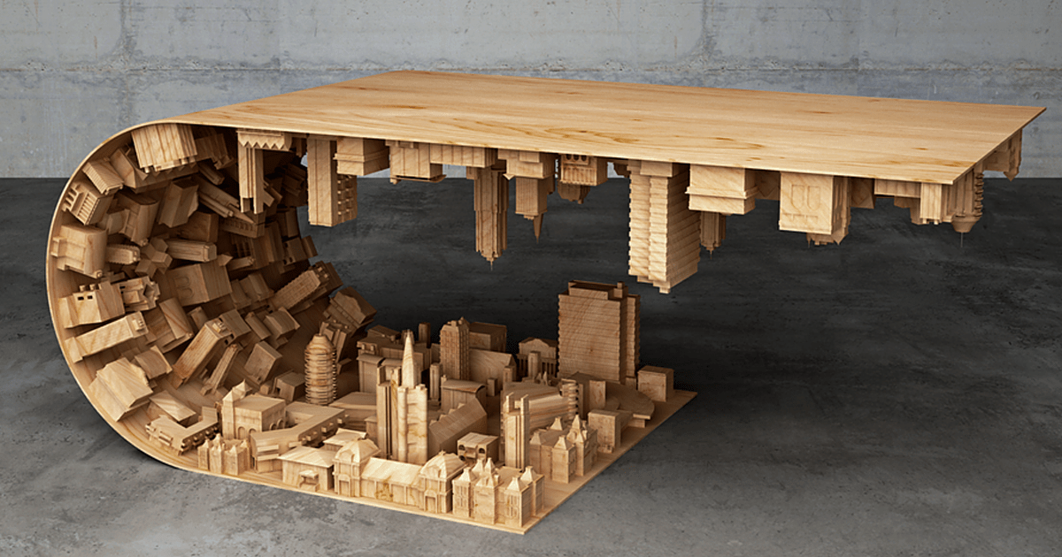 Inspired Coffee Table Bends A City In Your Living Room | USA