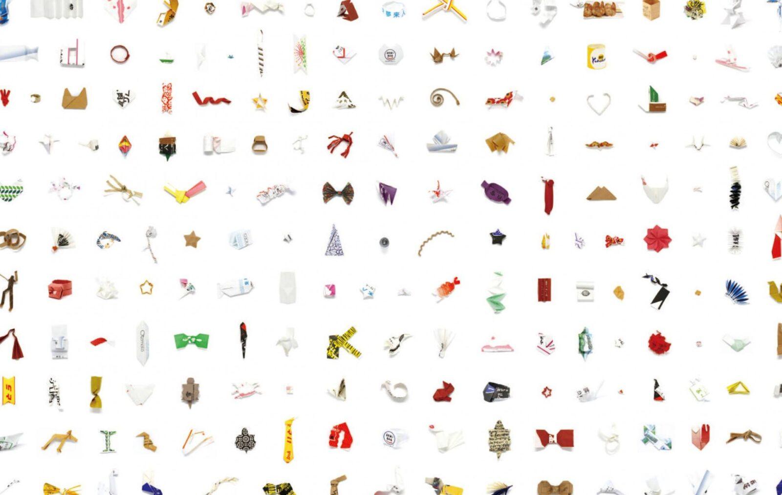 The Exhibition of 8,000 Chopstick Sleeve Sculptures Left Behind at Restaurants