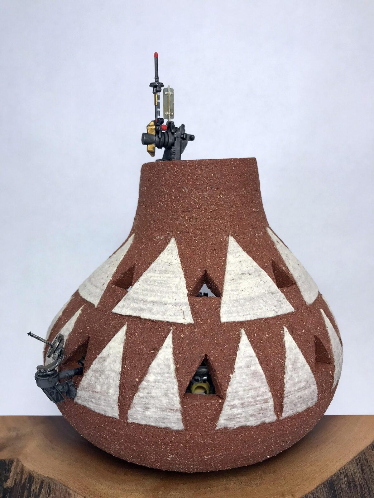 Miniature Workshops Constructed Inside Ceramic Vessels by Jedediah Voltz