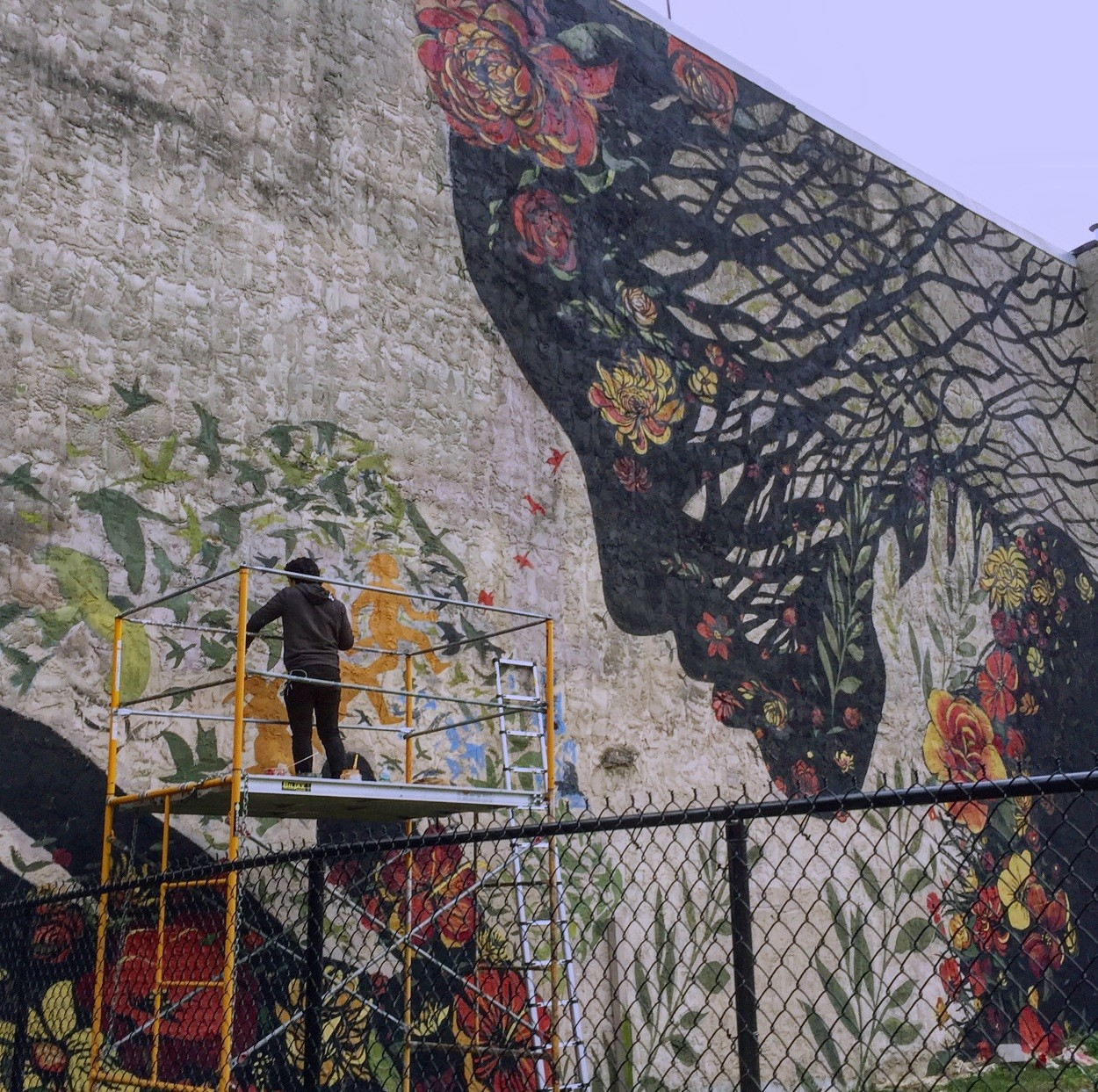 Mother Earth On The Mural by Jess X. Snow